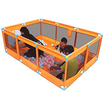 Playpen Play Yard Orange Child Safety Fence Portable Play Yard Indoors  Playpen For Baby Newborn Infant