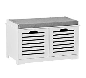 Phenomenal Aspect Kendal 2 Seater Wooden Storage Bench With Seat Cushion White Drawers 3 Gamerscity Chair Design For Home Gamerscityorg