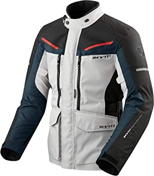 Jacket Man REVIT Safari 3 Negro-Plata-Azul-Rojo TAMAÑO M