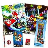 Nintendo Super Mario School Supplies Set -- Pencils, Folders, Erasers and More (12 Pc Set)
