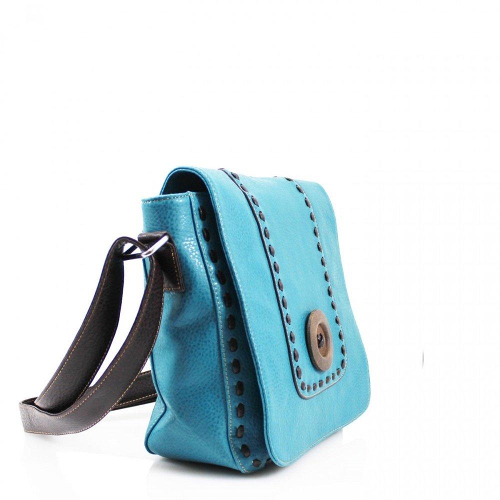 b0e4d3ab1a LeahWard Women s Celeb Style Shoulder Bags Ladies Nice Cross Body Bag  Handbag 431 (BEIGE Button Flap Over Bag)  Amazon.co.uk  Clothing