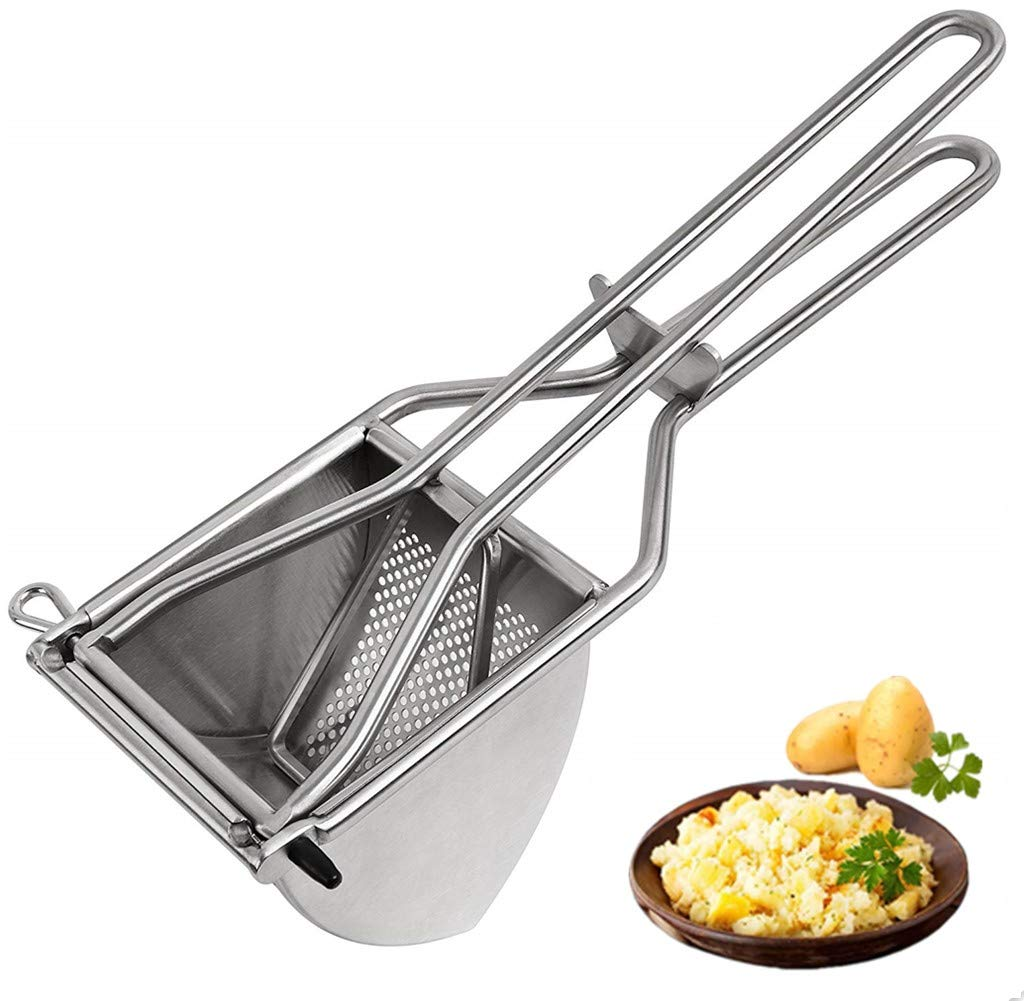 83-3040-W Weston Stainless Steel Potato Ricer for Fluffy and Airy Mashed Potatos
