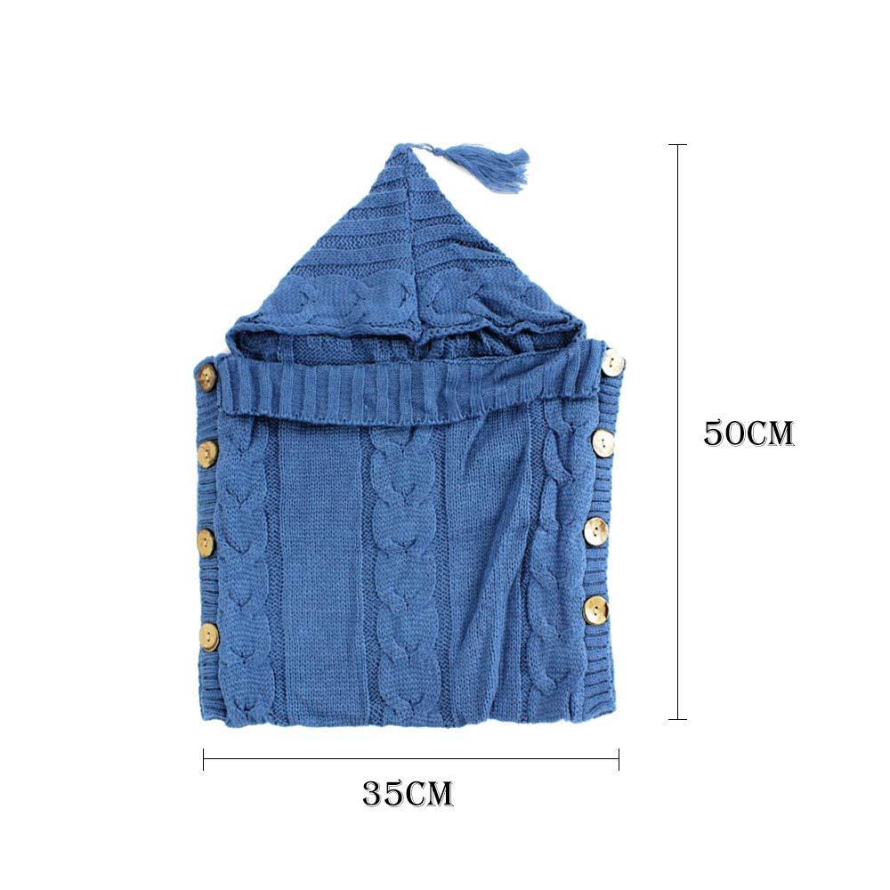 Decdeal Saco de Dormir del bebé Recién Nacido Abrigo del bebé Crochet cálido Punto Manta Infantil Manta Linda para la Ropa de Cama: Amazon.es: Hogar