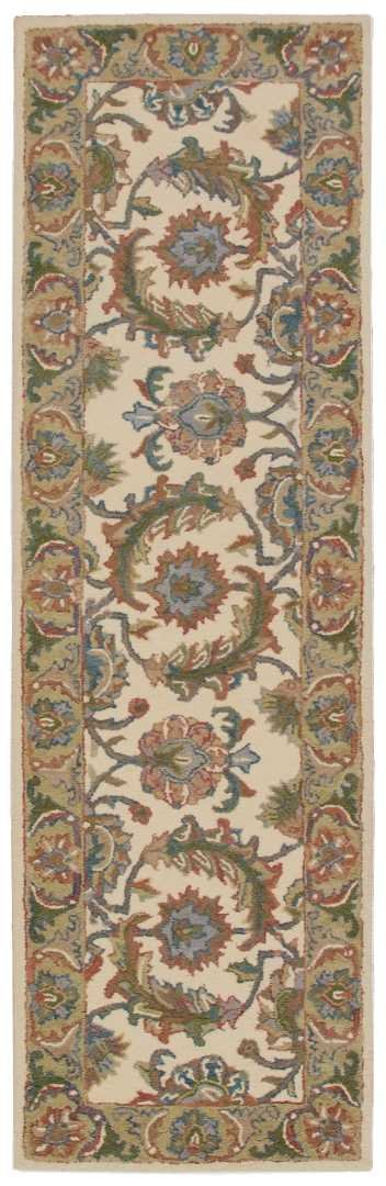 Nourison India House (IH05) Ivory/Gold Runner Area Rug, 2-Feet 3-Inches by 7-Feet 6-Inches (2'3'' x 7'6'') by Nourison (Image #2)