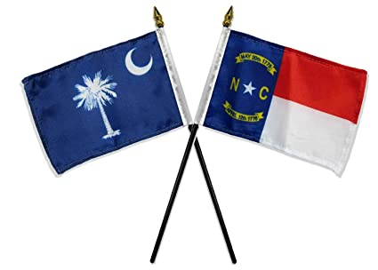 Amazoncom State North South Carolina Nc Sc Flags 4x6 Desk