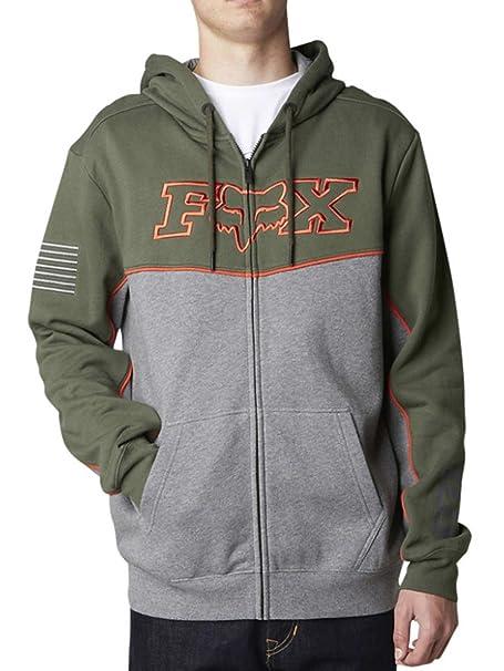Sudadera Fox Racing: Record Zip Fleece GR/GN L: Amazon.es: Ropa y accesorios
