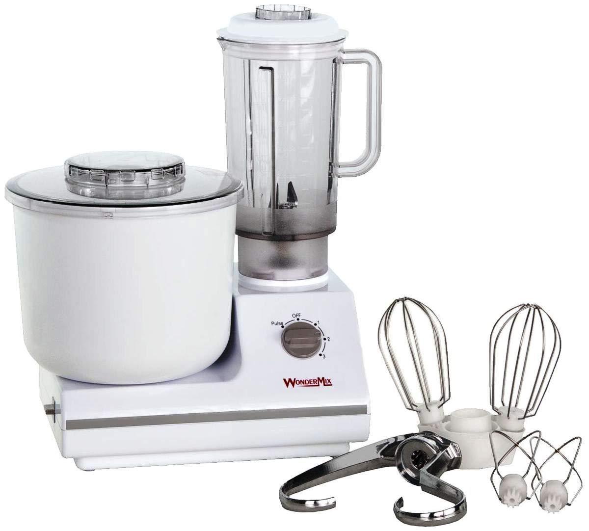 WonderMix Kitchen Mixer - German Design Bread Dough Mixer Machine - Electric Stand Mixer with Bonus Heavy Duty Blender and Attachments High Capacity Bread Mixer by WONDERMILL