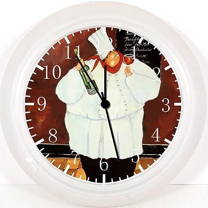 El Chef reloj de pared de 25,4 cm de habitaciones y decoración de la