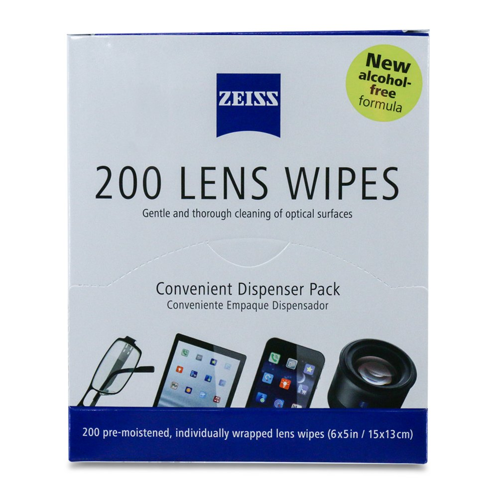 Amazon.com: Zeiss Pre-Moistened Lens Cleaning Wipes [2016 New Alcohol Free Formula]- Cleans Bacteria Germs without Streaks for Eyeglasses Sunglasses iPhone ...