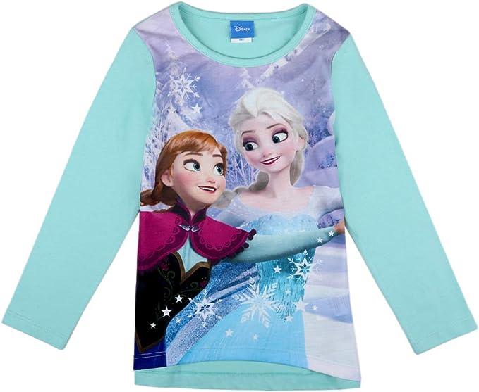 Disney : : Frozen Maglietta t-Shirt Grigia Elsa Il Regno del Ghiaccio :