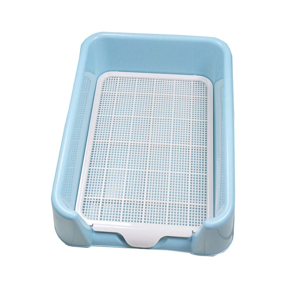 bluee M bluee M Ryan Dog Toilet, Indoor Training Flatbed Dog Potty Urinal Loo With Fence Pet Supplies For Small And Medium Dogs Toilet (color   bluee, Size   M)