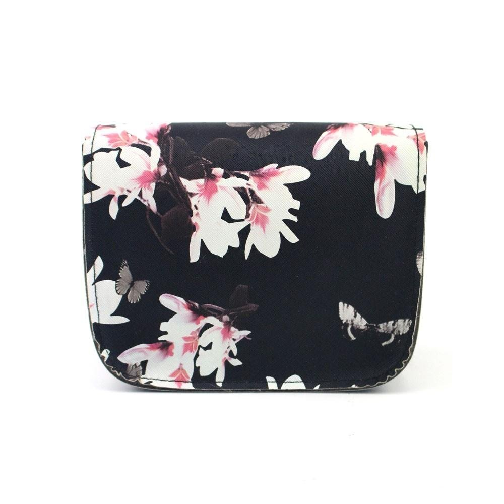 Outsta Butterfly Flower Printing Handbag,Women Shoulder Bag Tote Messenger Bag Phone Bag Coin Bag Travel Backpack Bucket Bag Classic Basic Casual Daypack Travel (Black) by Outsta (Image #3)