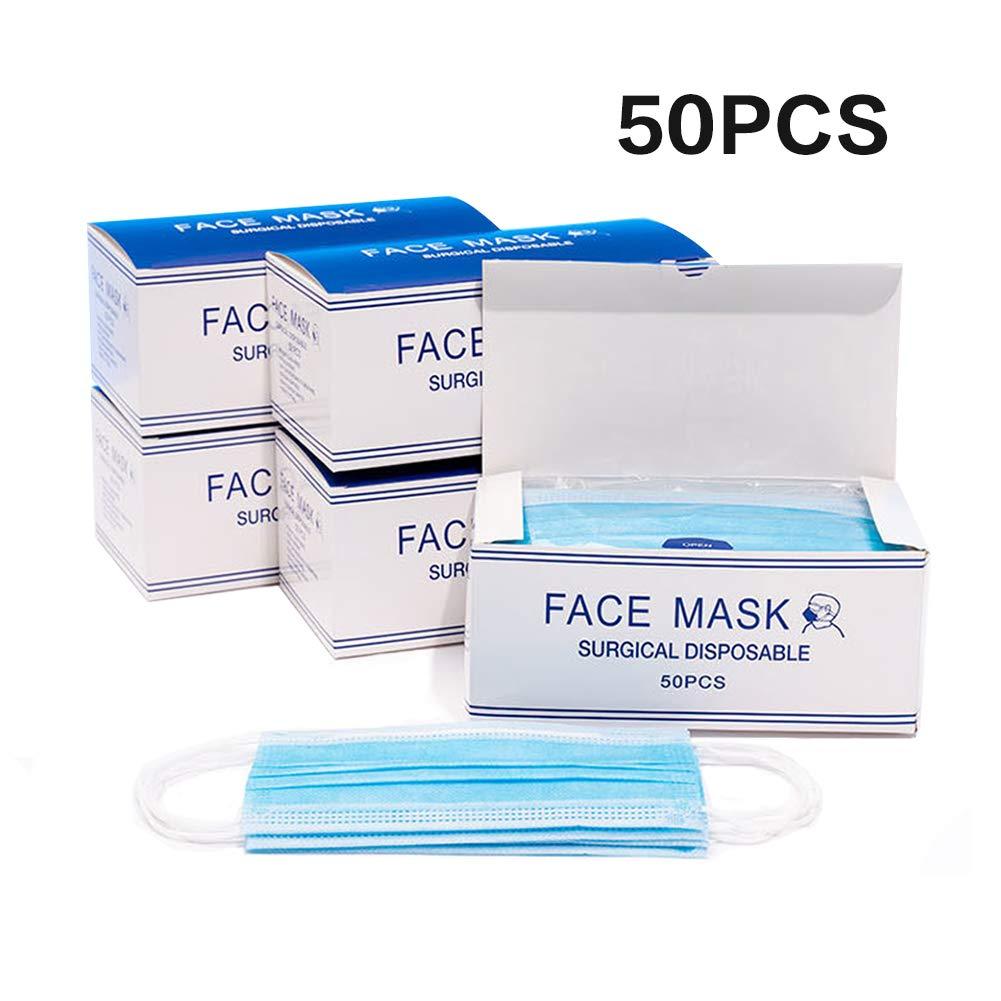 AMEIZA 50 Piezas, protección contra el Polvo, protección respiratoria protección Facial desechable Engrosada
