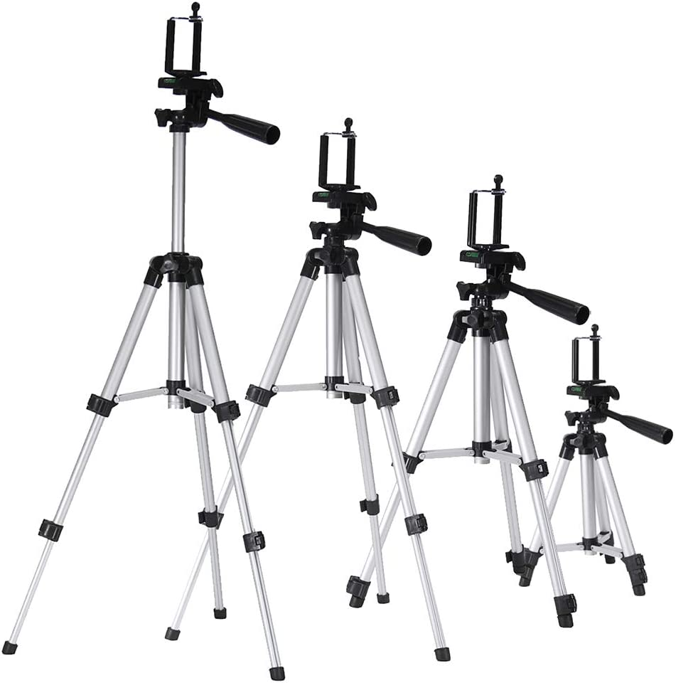 Baugger Professional Adjustable Tripod,Stand Mount Holder Universal Compatible with Digital Camera Camcorder Phone DSLR SLR