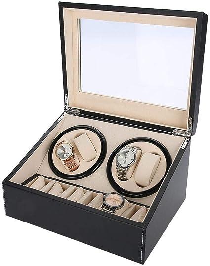 Caja De Almacenamiento De Reloj De 6 Rejillas, Caja De Enrollador De Reloj Relojes Automáticos Motor Silencioso Rotación Múltiple(01): Amazon.es: Belleza