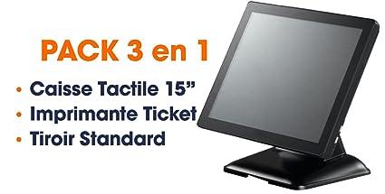 Pack 3 en 1 - Caja registradora táctil Pro - Pantalla 15 ...