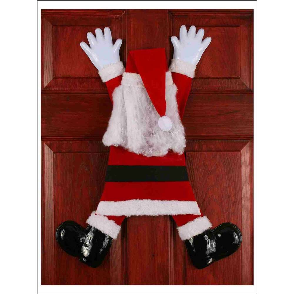 Wrong Way Santa Door Hanging Decoration Fun World 7752FW