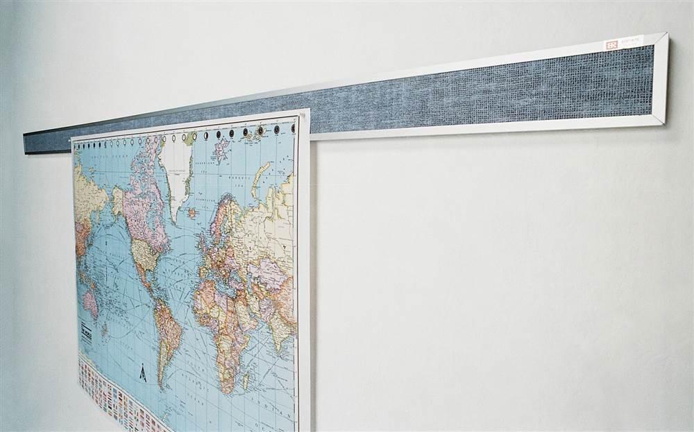 Tackboard Display Rails - 3 ft. Wide (Platinum)