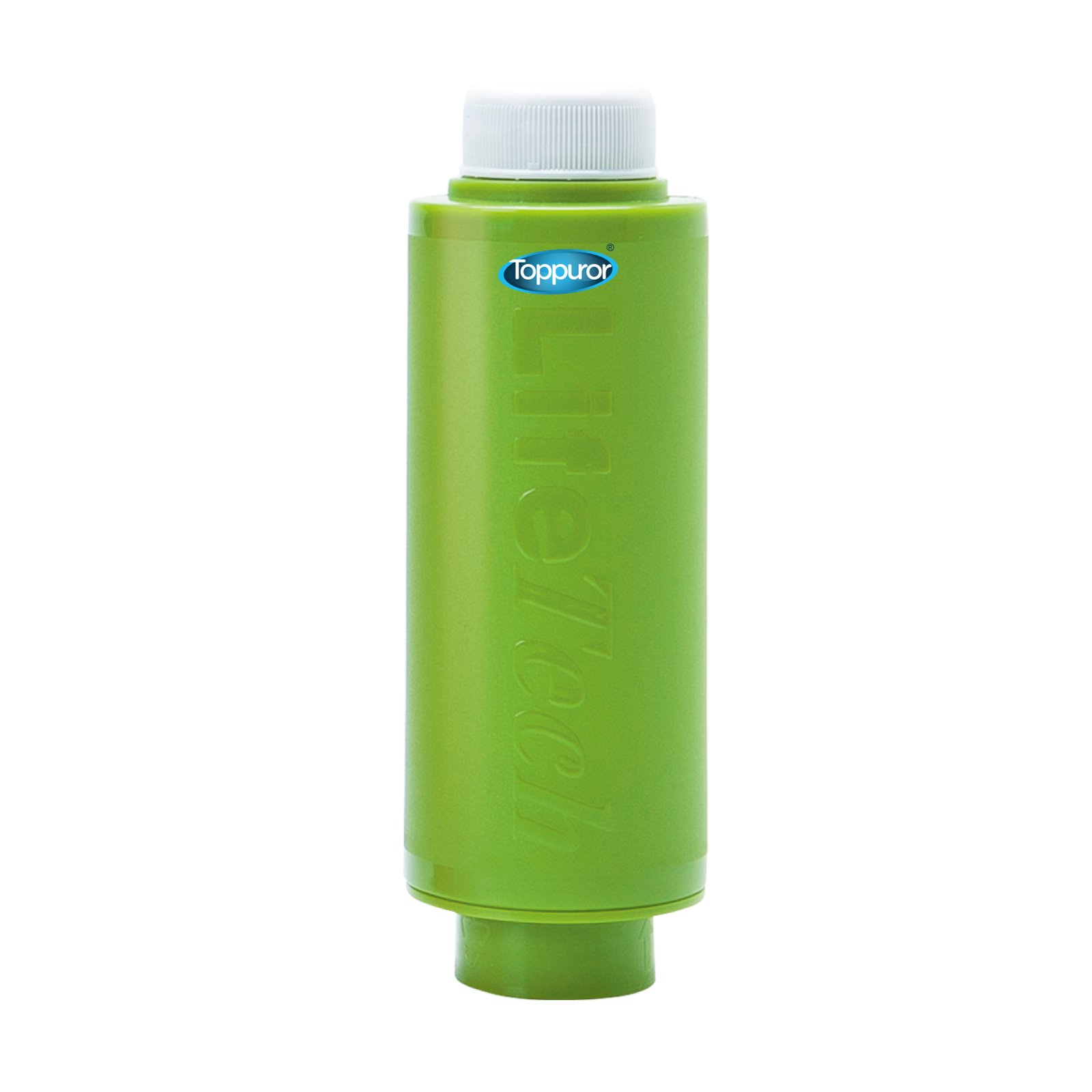Toppuror Apple Green antibacterial silver carbon + Resin straw - Portable Mineral Filter, suitable for travel, mountain climbing, school, home , hotel, hostel