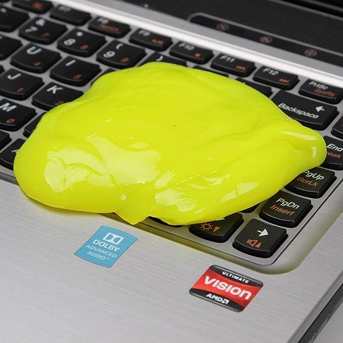 SYFIELD Magic Sticky Jelly Destop de Gel limpiador de teclado para portátil ordenador polvo remover Flexible suave adhesivo reutilizable Magic de limpieza: ...