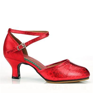 Cheville Modern Sandales Danse En De Byle Cuir Chaussures Sangle NnwvOm8y0