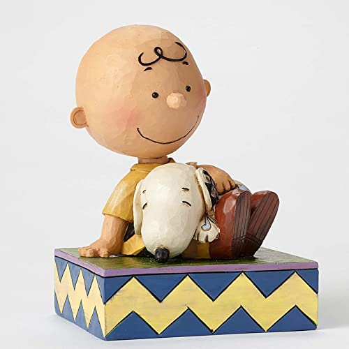 Enesco Jim Shore Peanuts Happiness is Snuggling Charlie Brown Snoopy Figurine 4049397