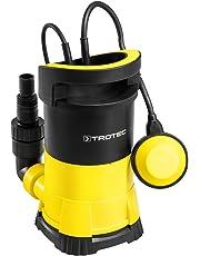 TROTEC Pompe de relevage pour eau claire TWP 4005 E (400 W, 7.000 l/h, jusqu'à une profondeur de 7,5 m, taille des impuretés 5 mm)