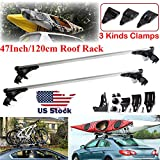 """ZhanGe 48"""" Roof Rack System Cross Bars Crossbars Window Frame Universal fit Bare Roof Vehicles Ford Edge 2007-2013 (Without Side Rails and Gutters)"""