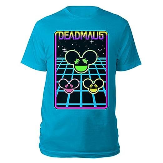 Amazon Com Deadmau5 Mens Multi Trio Heads Space Invaders T Shirt L