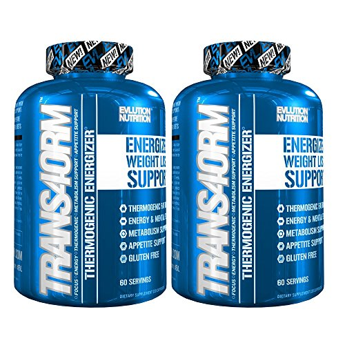 - Evlution Nutrition Trans4orm Thermogenic Energizing Fat Burner Supplement, Increase Weight Loss, Energy and Intense Focus, Diet Pills for Men and Women (2-Pack 60 Serving Capsules)