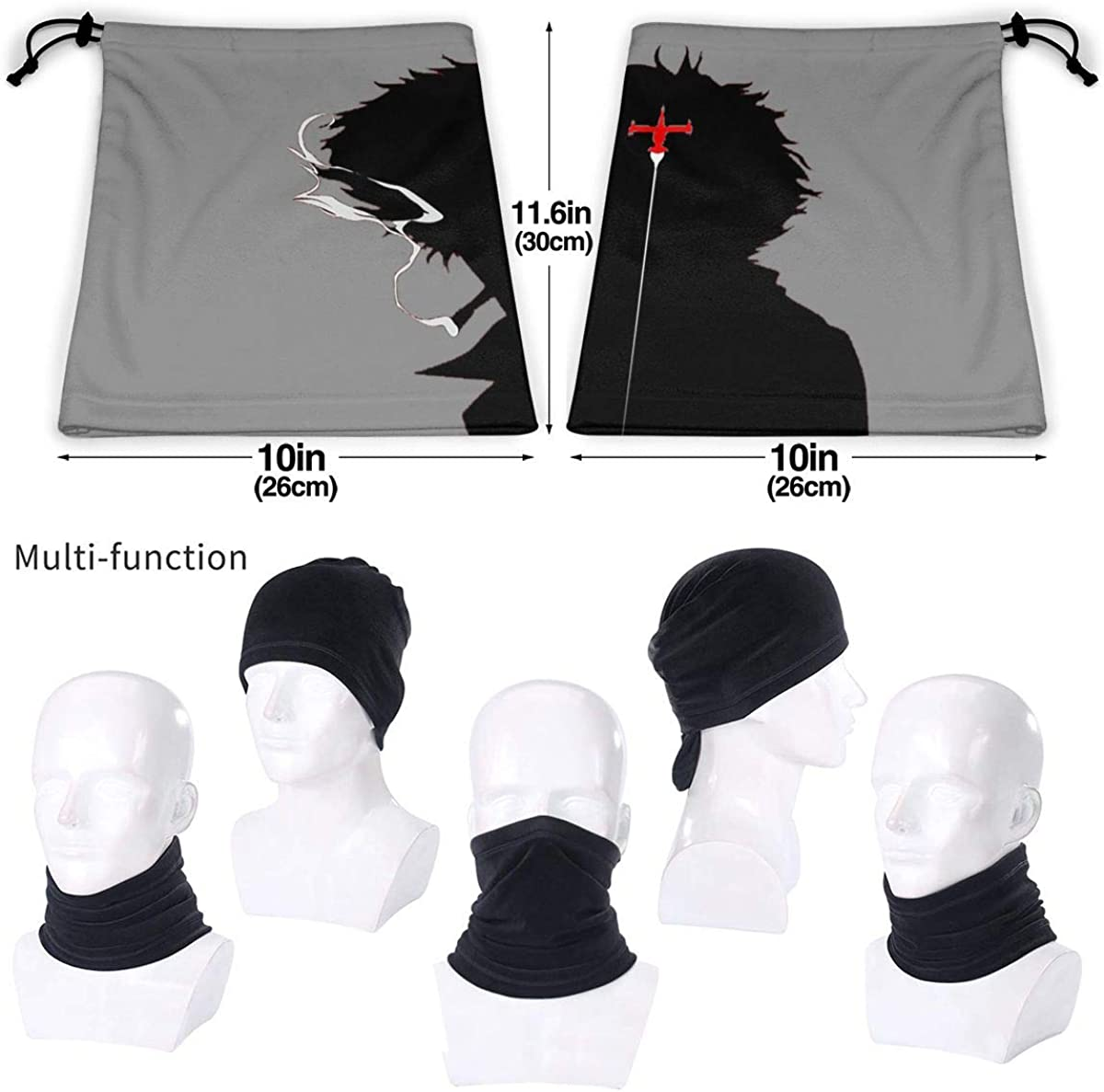 Cowboy Bebop Unisex Comfortable And Breathable Fashion Scarf Face Tube Neck Scarf Neck Warm Scarf