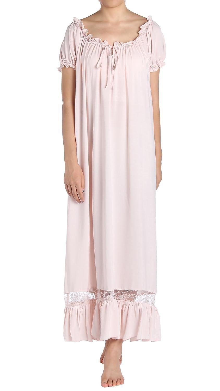 Latuza Women's Sleepwear Off The Shoulder Victorian Nightgown