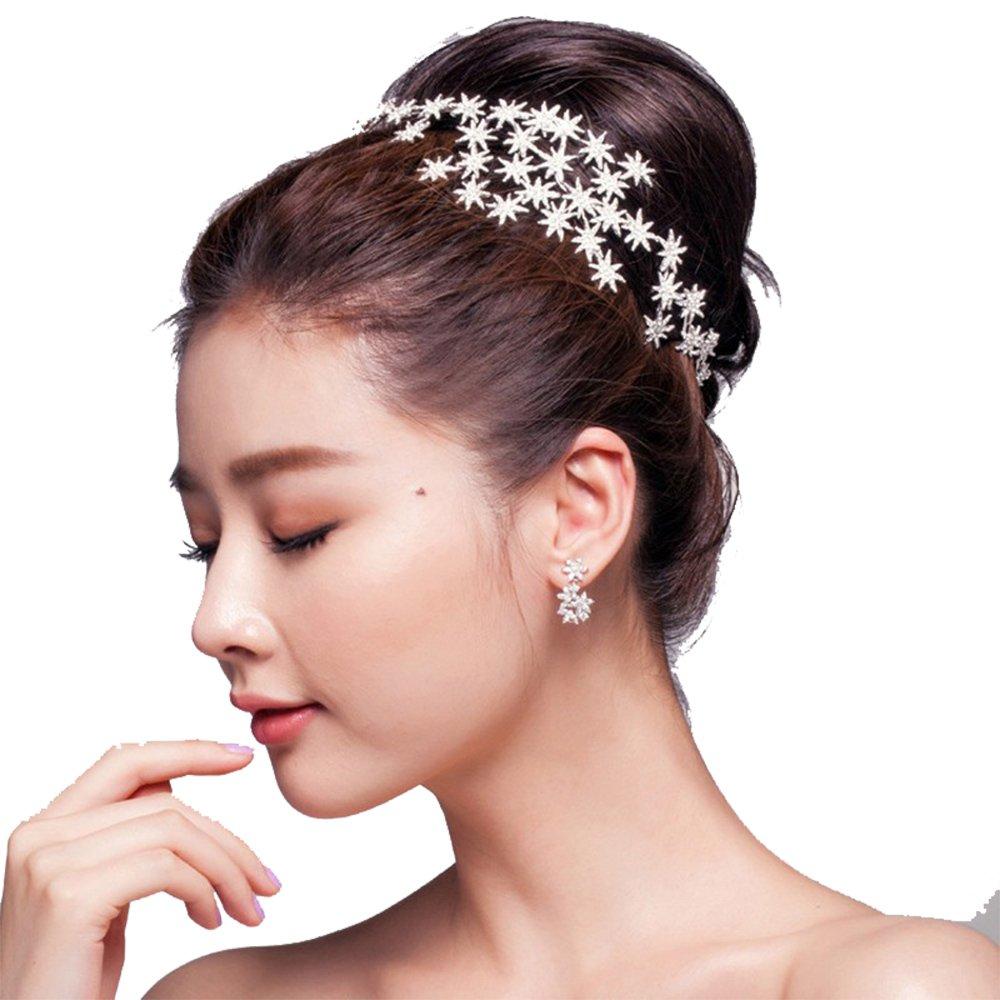 Star Hairbands Bride Tiaras and Crowns Wedding Crown Rhinestone Bridal Wedding Hair Accessories Hair Jewelry 13