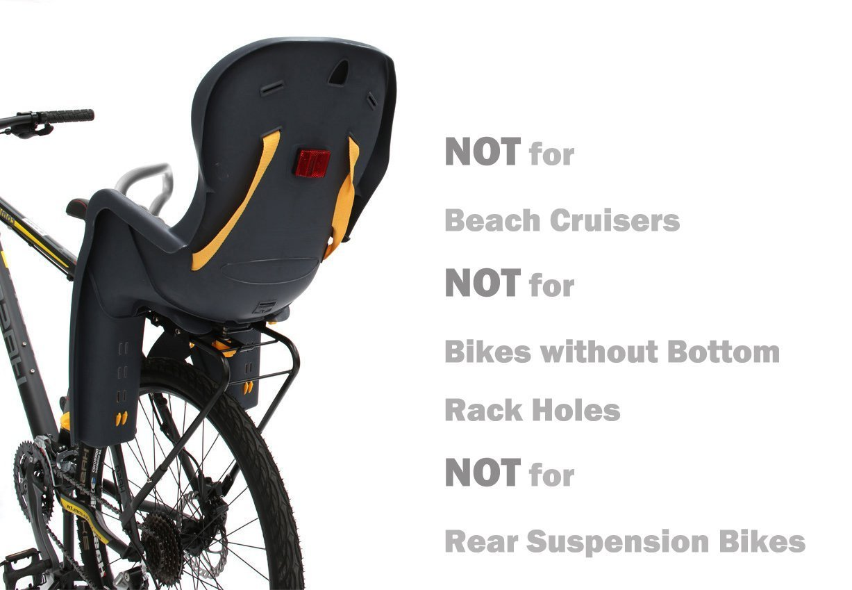 CyclingDeal Bicycle Kids child Rear Baby Seat bike Carrier USA Standard With Rack by CyclingDeal (Image #2)