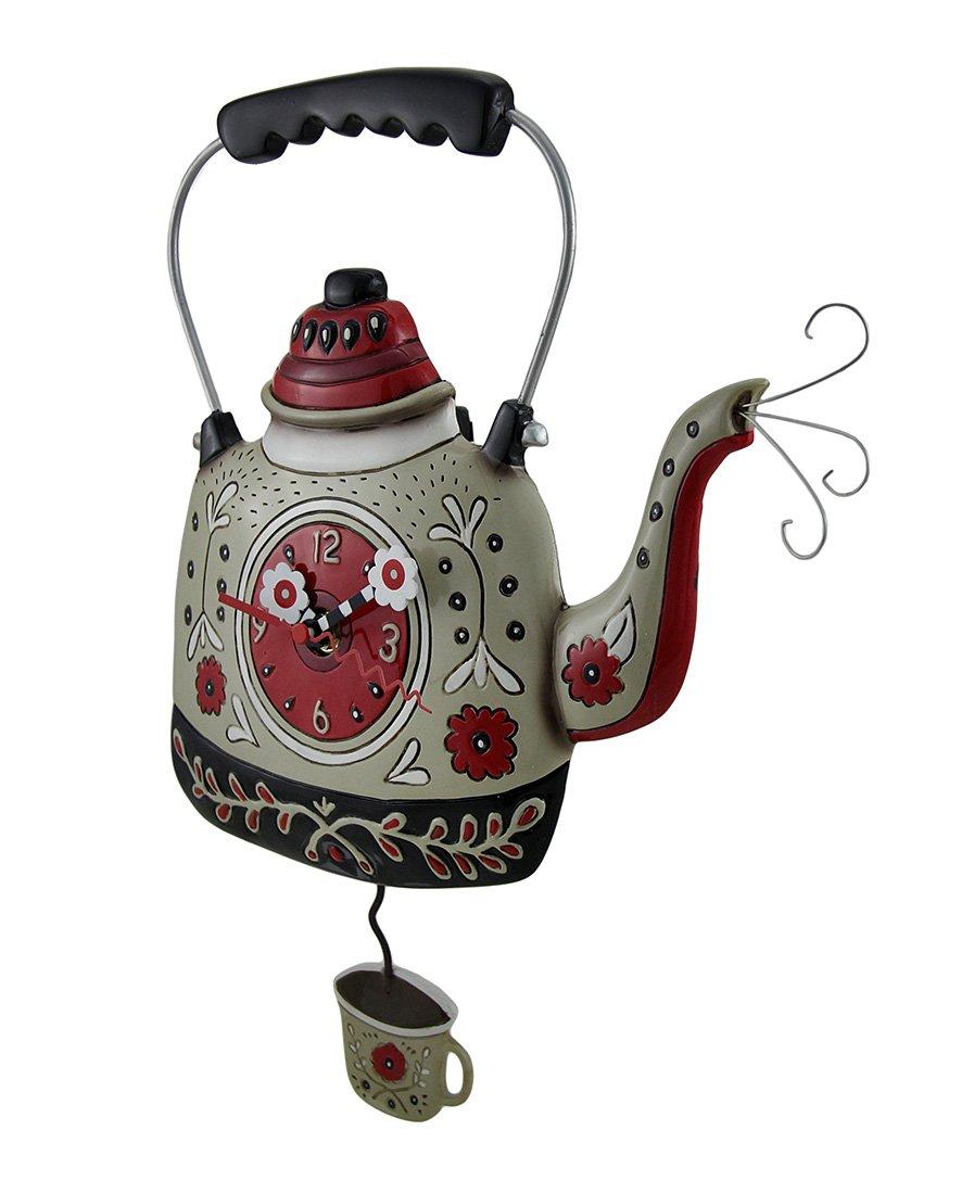Allen Designs Kettle s On Whimsical Pendulum Wall Clock