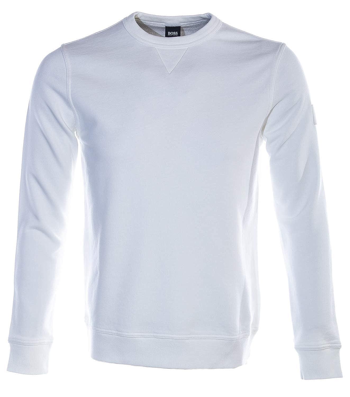 L BOSS Walkup Sweat Top in blanc