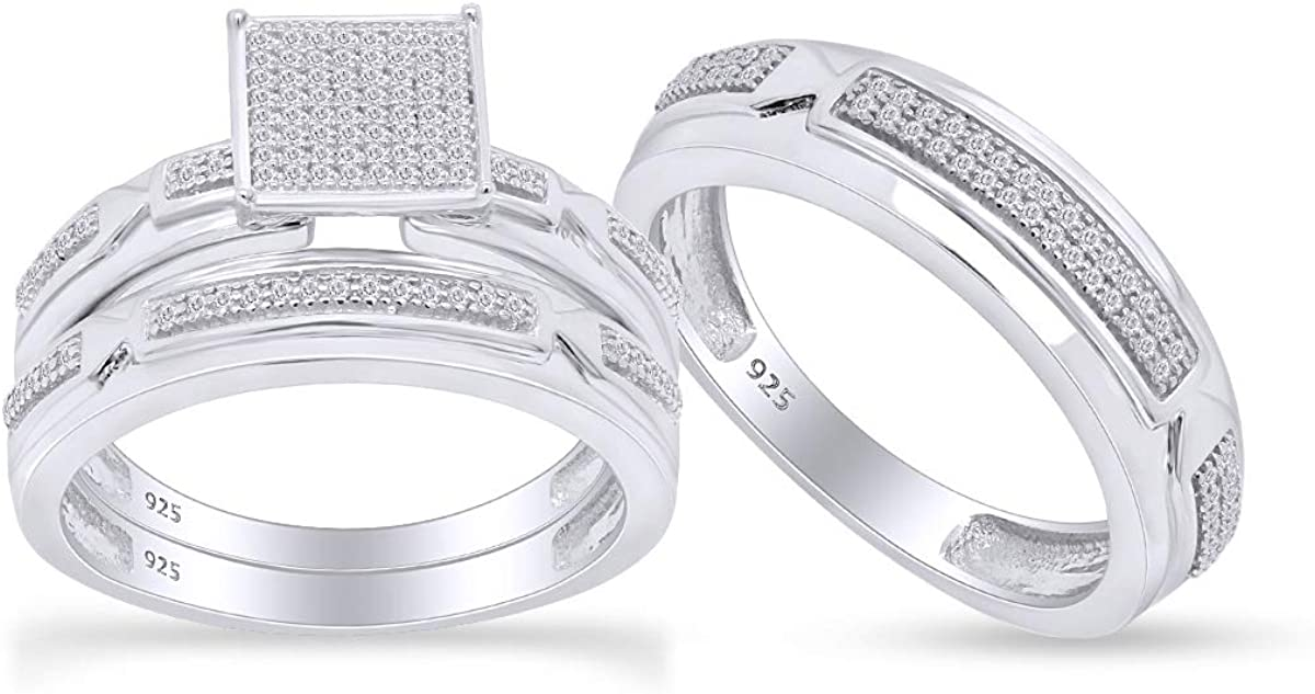 AFFY Round Cut White Natural Sale special price Engagement Ring Challenge the lowest price of Japan Bridle Trio Diamond