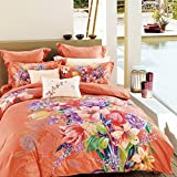DHWM-Cotton 4 piece, solid Cotton Mill hair thick bedding, autumn and winter wedding is set double ,1.5m