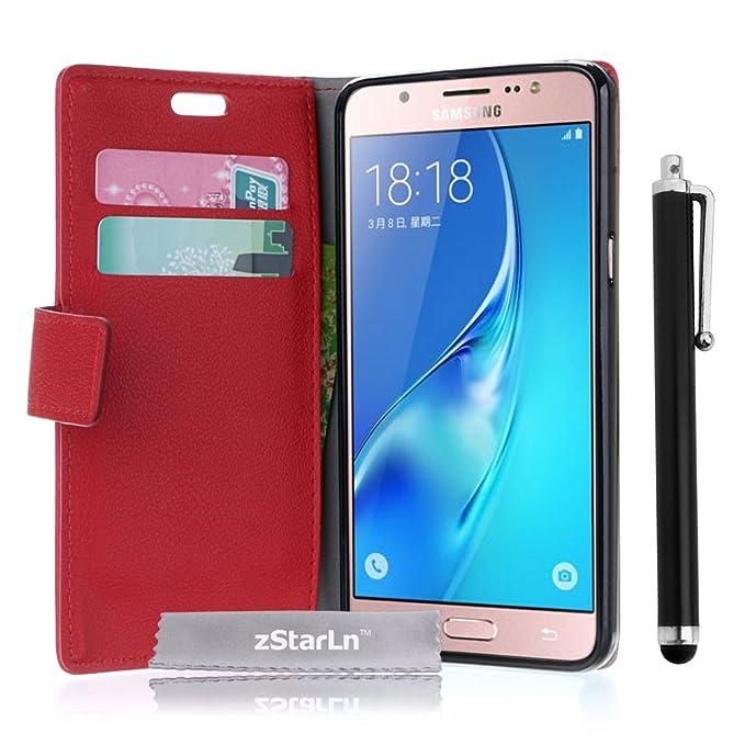 145 opinioni per zStarLn rosso luxury Portafoglio Protettiva Custodia in pelle per Samsung Galaxy