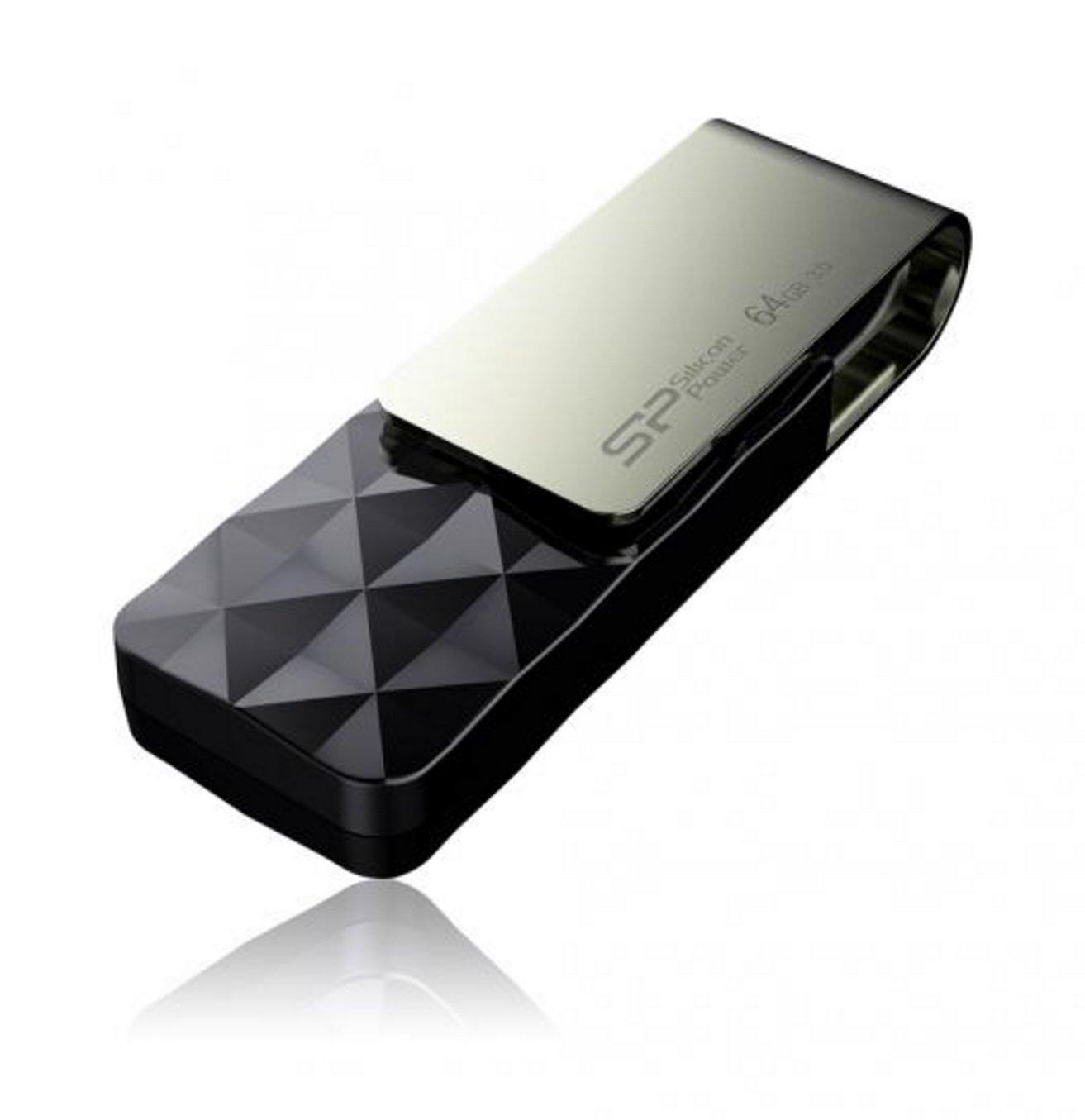 Silicon Power 64GB Blaze B30 USB 3.0 Swivel Flash Drive, Black (SP064GBUF3B30V1K) by Silicon Power (Image #3)