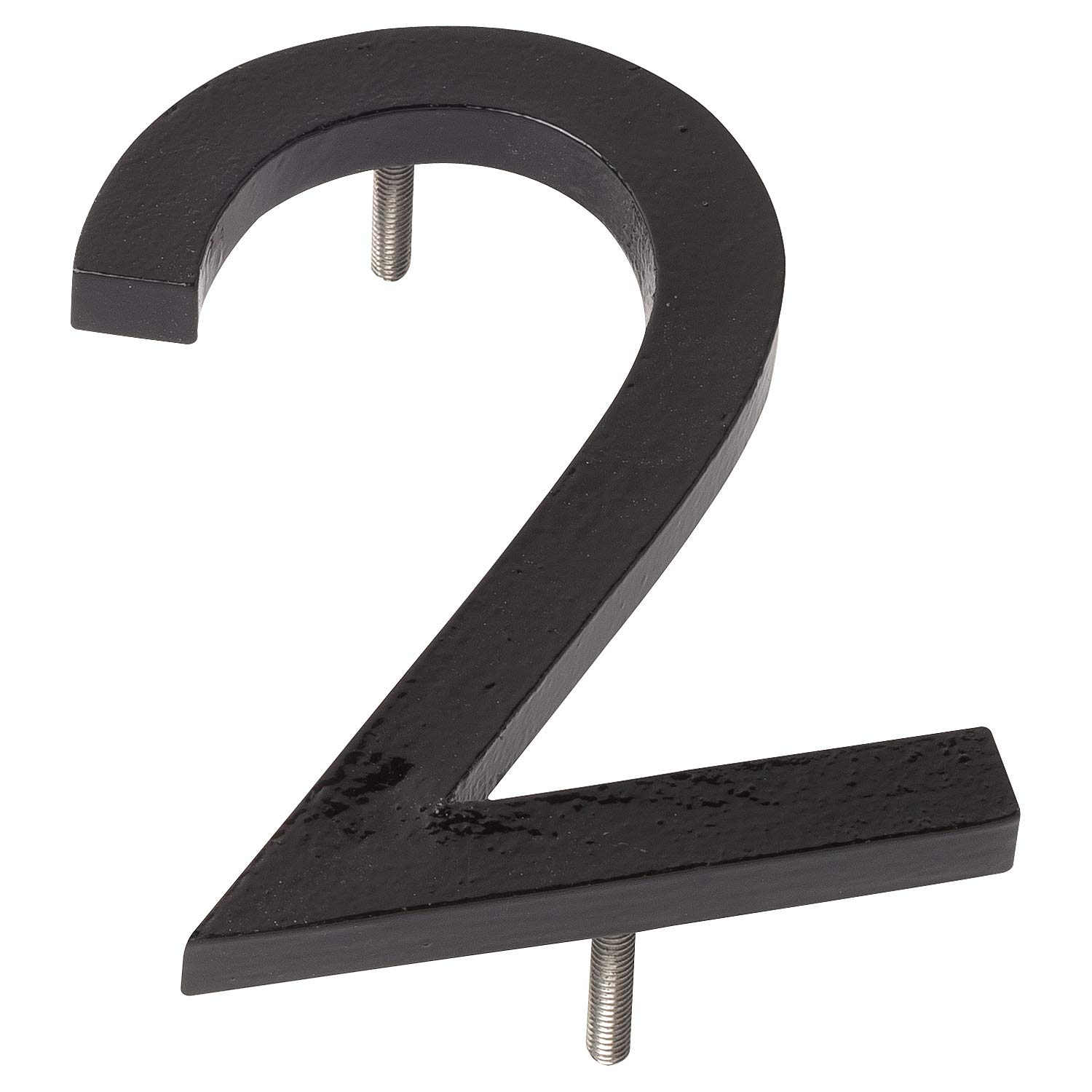 Montague Metal Products MHN-06-2-F-BK1 Floating House Number, 6'' x 4.25'' x 0.31'' Black
