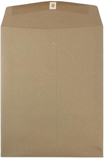 152,4 x 228,6 mm 50//Confezione JAM PAPER Buste per Catalogo con Estremit/à Aperta con Chiusura in Gomma Busta di Carta Marrone Kraft
