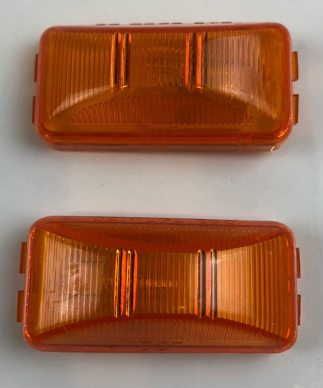 Triton 05545 Amber 2.5 Inch Rectangle Sidemarker Light - 2 Pack