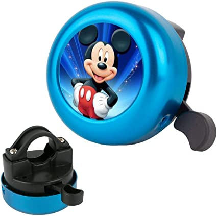 Amazon Com Disney Collection Bike Bell Mickey Mouse Wallpaper Hd Durable Aluminum Stylish Bicycle Bell With Loud Crisp Clear Sound Handlebars Bell For Kids Adults Blue