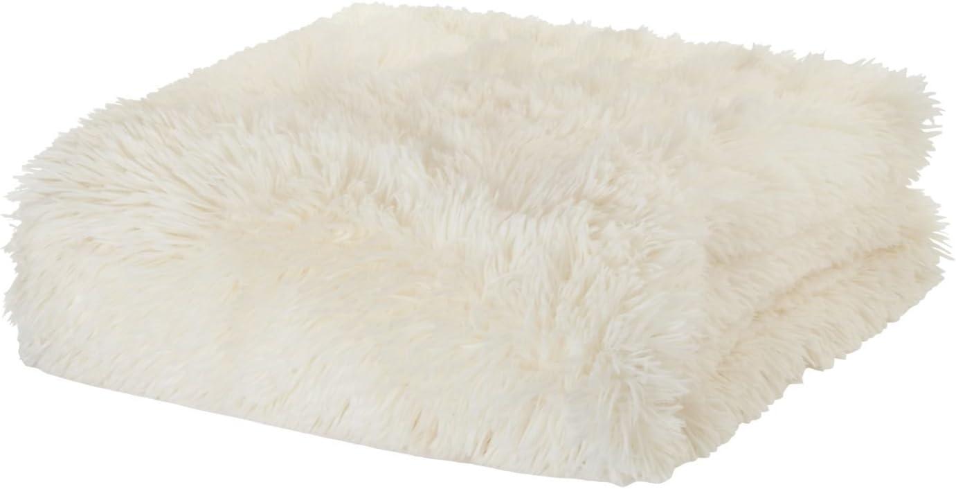 Catherine Lansfield - Manta suave (tela de peluche, 150 x 200 cm), color crema