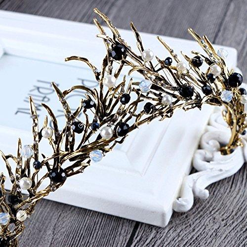 JC's Beauty Crown Tiara Headpiece for women Wedding Tiara Party Queen Crown headband