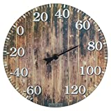 outdoor thermometer wood - Springfield Barn Wood Glass Thermometer (10-inch)