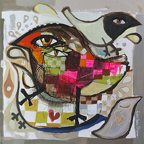 Kings Wood Art Pissarro/_Love Birds 30x30 Fine Art Canvas Print Multicolor