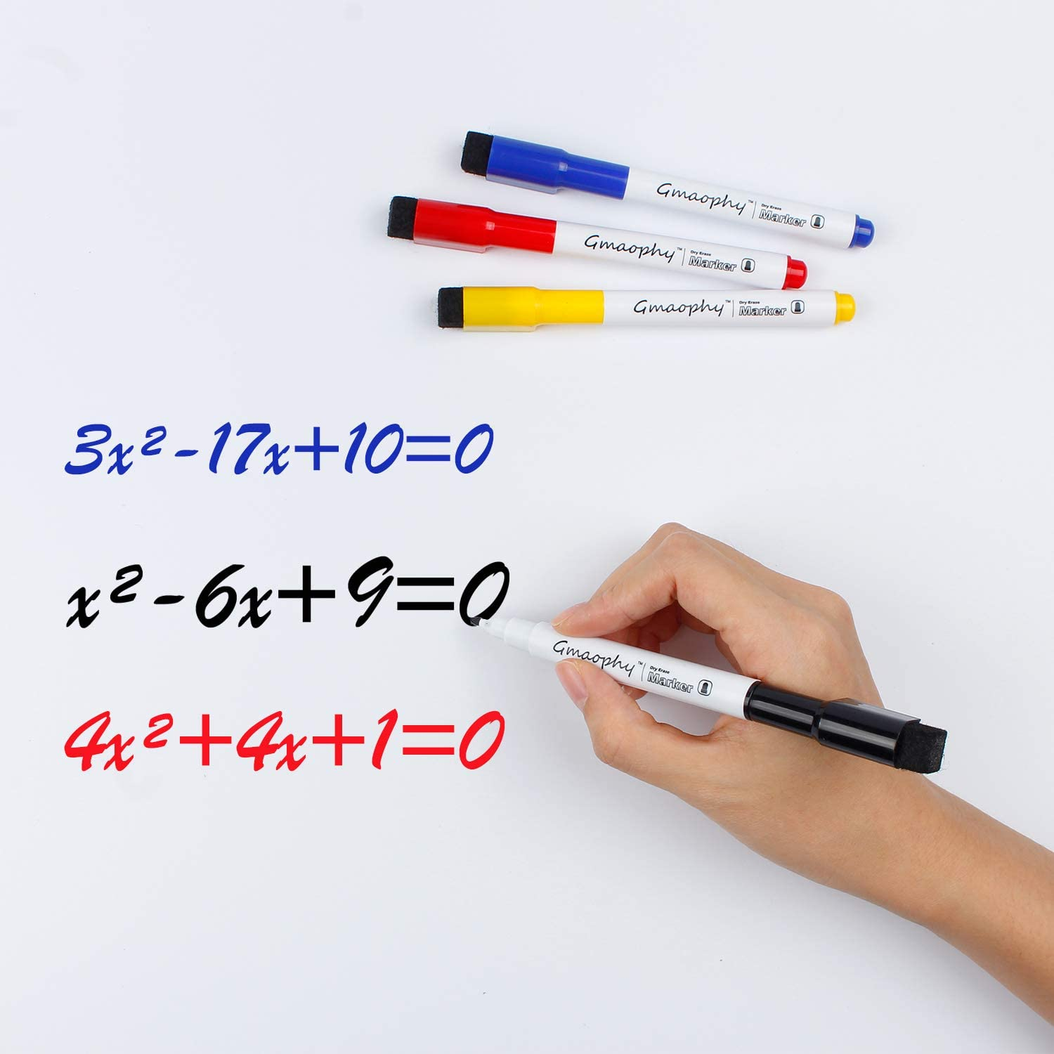 Magnetic Dry Erase Markers - 14 Pcs 7 Color Whiteboard Markers with Eraser Cap, Low Odor Dry Erase Markers for Glass/Whiteboard/Porcelain/Plastic/School/Office : Office Products
