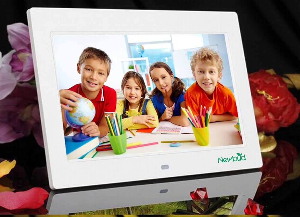 Support 32GB SD Card 7 Inch TFT LCD Wide Screen Digital 2000 Photos Display Frame with Calendar Support Tf Sd//Sdhc//USB Flash Drives